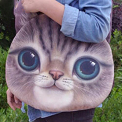 Large Funny Cute Cat Purse, Cat Bag kitty 1 by Blissfactory Pet Supplies