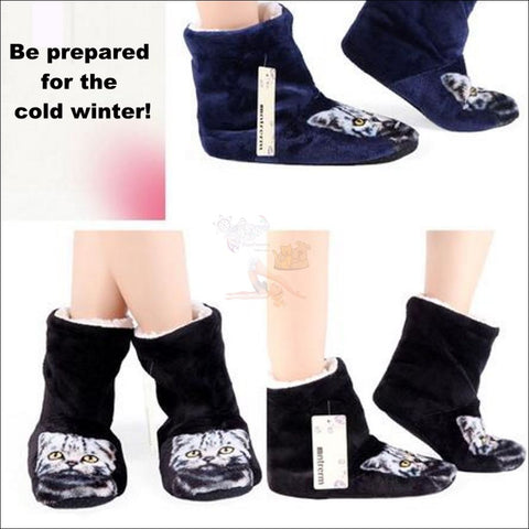 Fluffy Kitty Paw womens boots - Best Winter Boots design by Blissfactory Pet Supplies