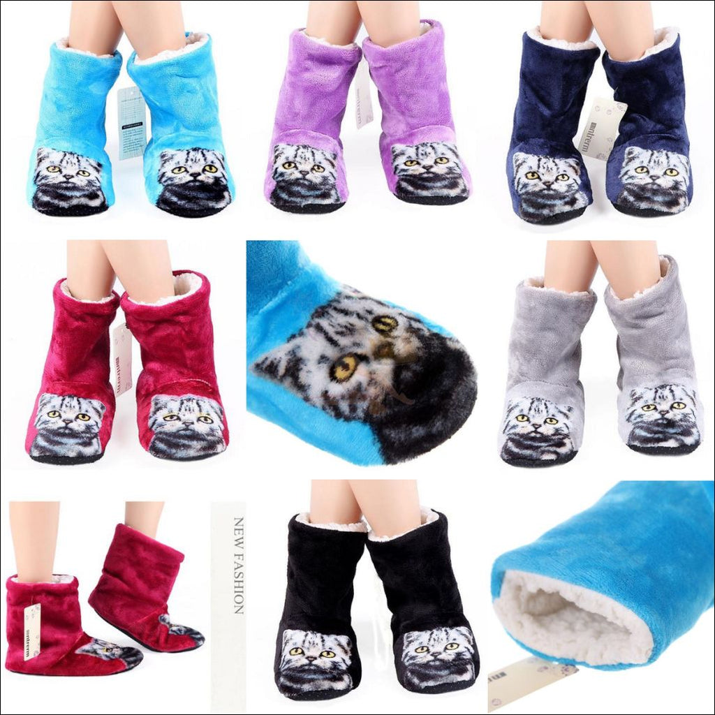 Fluffy Cat womens boots - Best Winter Boots by Blissfactory Pet Supplies