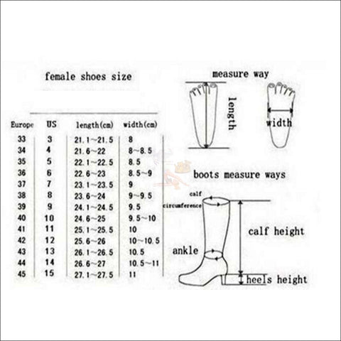 Fluffy Cat womens boots - Best Winter Boots measurement by Blissfactory Pet Supplies