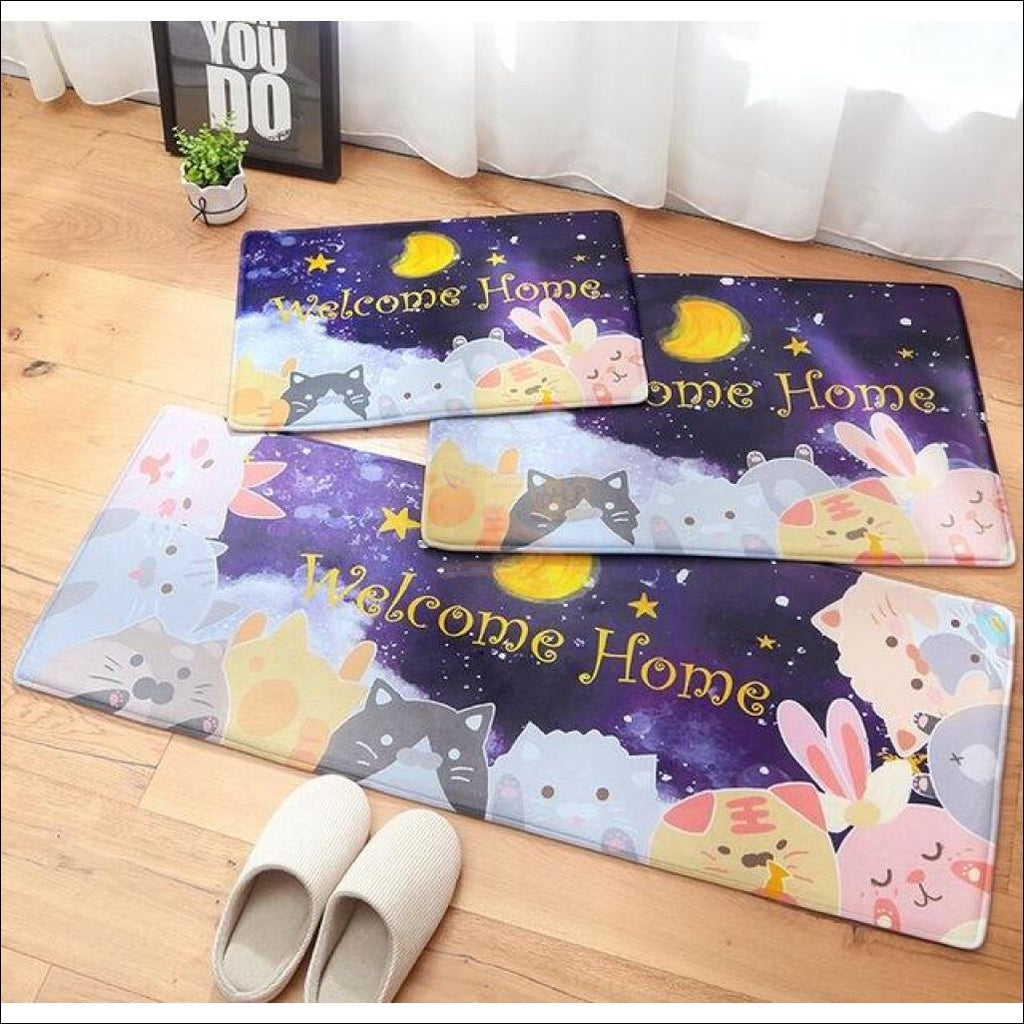 Funny Cute Anti-Slip & Anti-Dirt Doormats Moon Cats 1Pc / 60X90Cm Cat