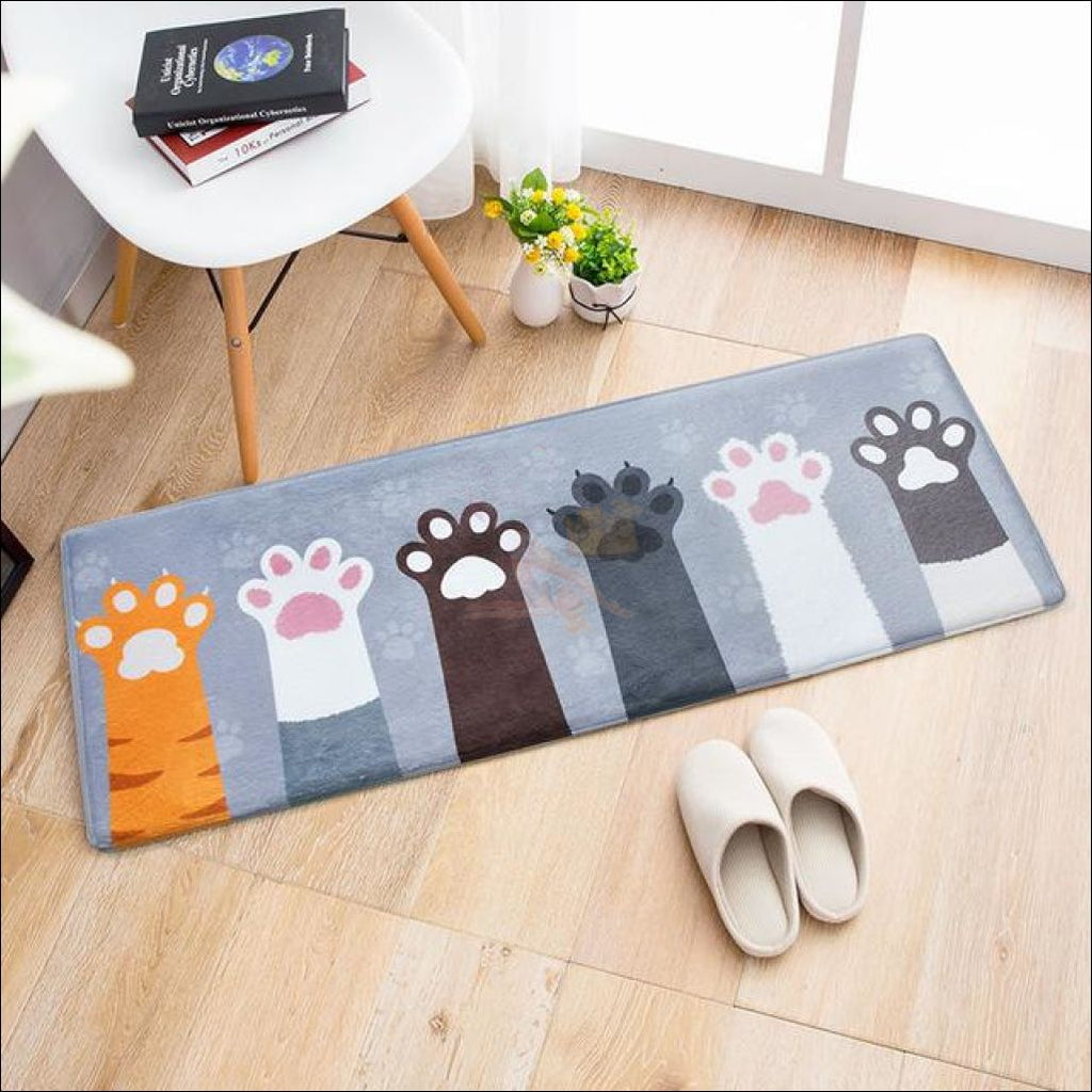 Funny Cute Anti-Slip & Anti-Dirt Doormats Give Me Paw Cats / 60X90Cm Cat
