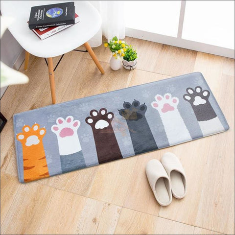 Cute Cat Anti-Slip & Anti-Dirt  Funny Doormats Give me paw cats by Blissfactory Pet Supplies