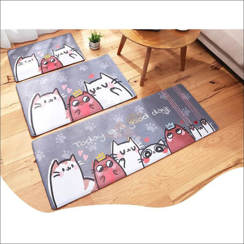 Cute Cat Anti-Slip & Anti-Dirt  Funny Doormats all size by Blissfactory Pet Supplies