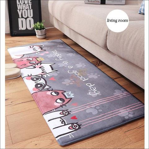 Cute Cat Anti-Slip & Anti-Dirt  Funny Doormats design by Blissfactory Pet Supplies