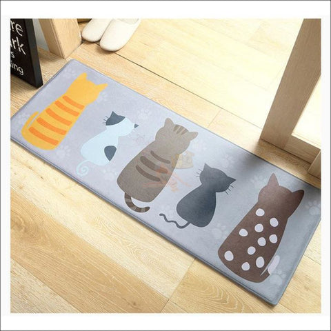 Cute Cat Anti-Slip & Anti-Dirt  Funny Doormats Cute Cat Family by Blissfactory Pet Supplies