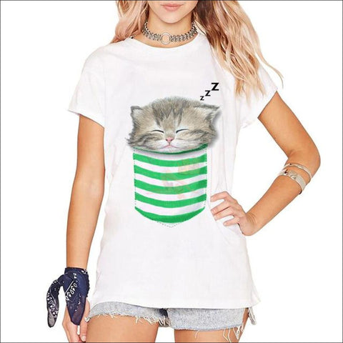 Buy Cute  Cat Shirts- Funny T-shirts CatPurrito 2 by Blissfactory Pet Supplies