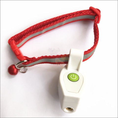 Cat Laser Toy Cat Collar White by Blissfactory Pet Supplies