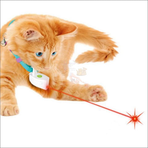 Image of Cat Laser Toy Cat Collar White by Blissfactory Pet Supplies