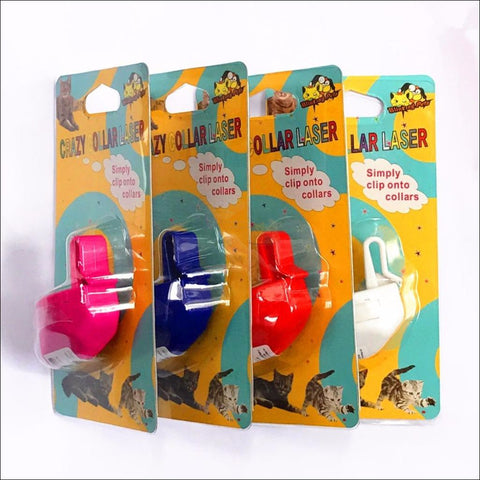 Image of Cat Laser Toy Cat Collar Colors by Blissfactory Pet Supplies