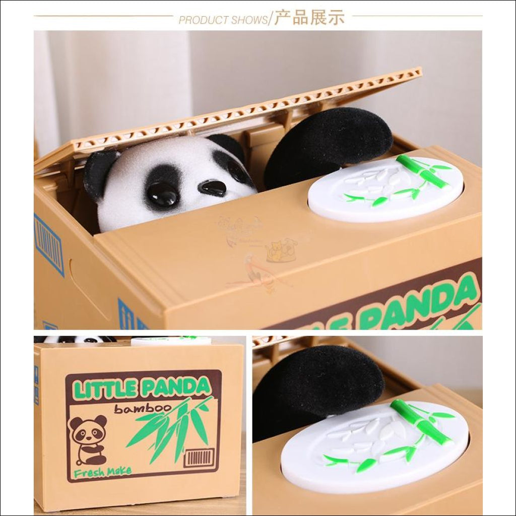 Money Stealing Panda Piggy Bank, Money Box Design by Blissfactory Pet Supplies