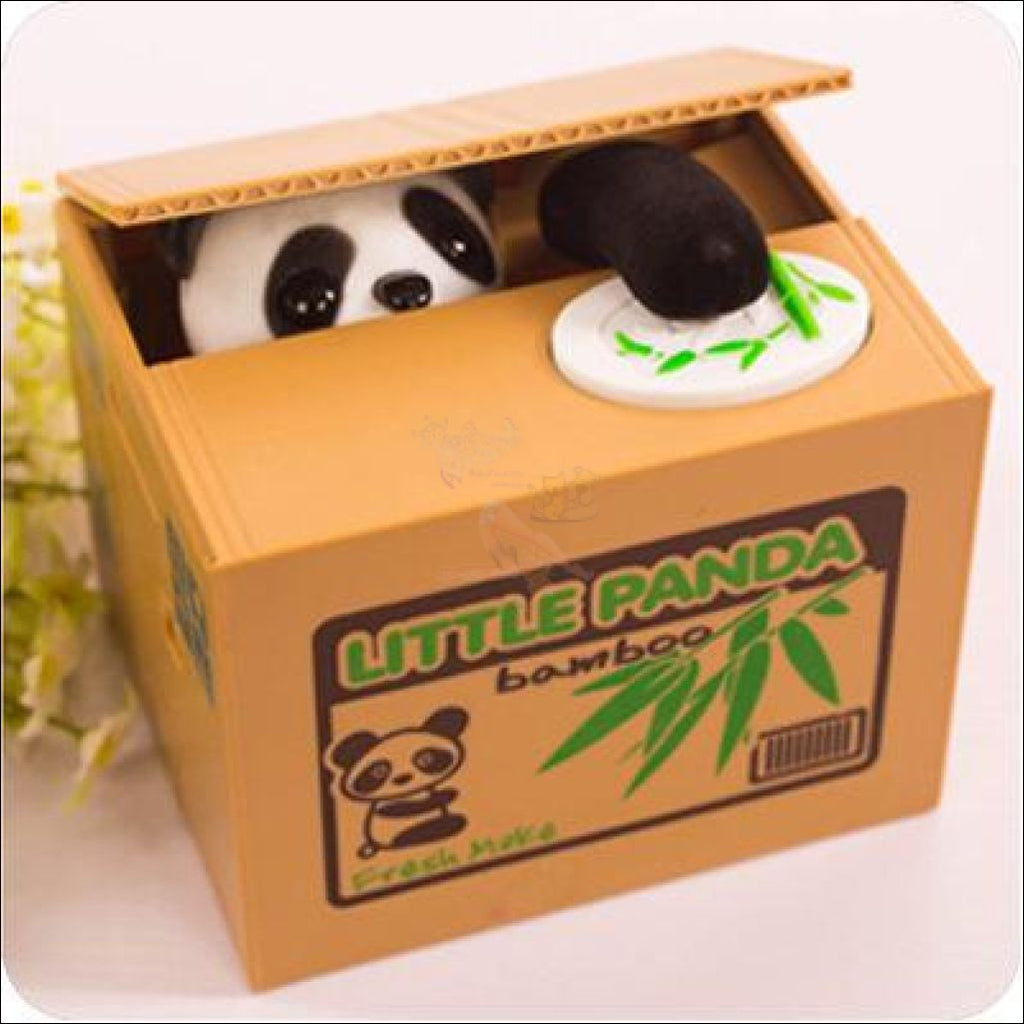 Money Stealing Panda Piggy Bank, Money Box by Blissfactory Pet Supplies