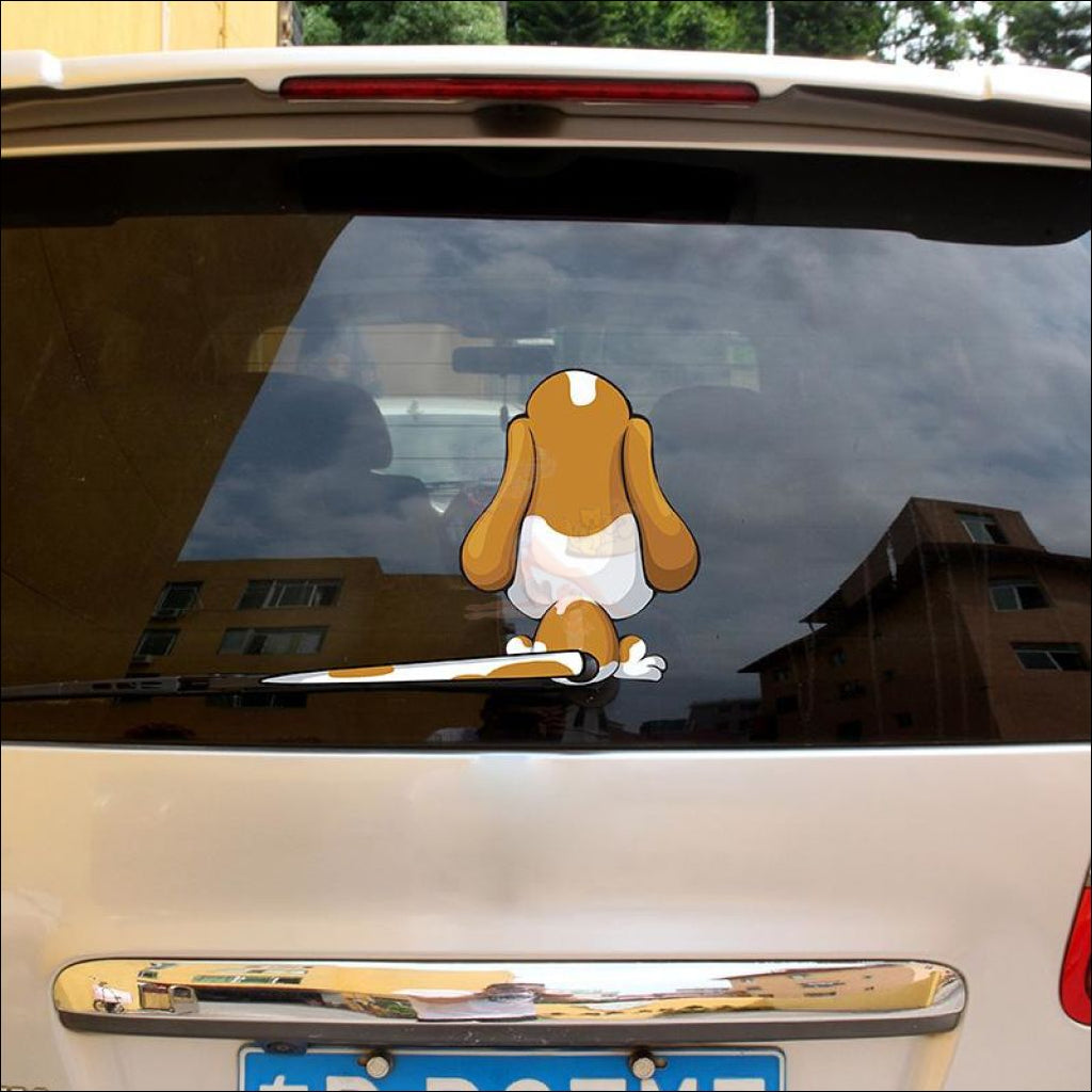 Moving Tail Beagle Car Stickers- Window Stickers by Blissfactory Pet Supplies