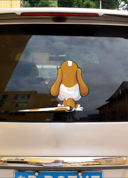 Funny Moving Tail Beagle Car Window & Windshield Sticker (Free Shipping)