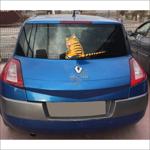 Image of Moving Tail CAT CAR Sticker - Window Stickers by Blissfactory Pet Supplies