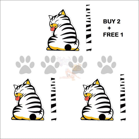Image of Moving Tail CAT CAR Sticker - Window Stickers buy 2 get 1 free by Blissfactory Pet Supplies