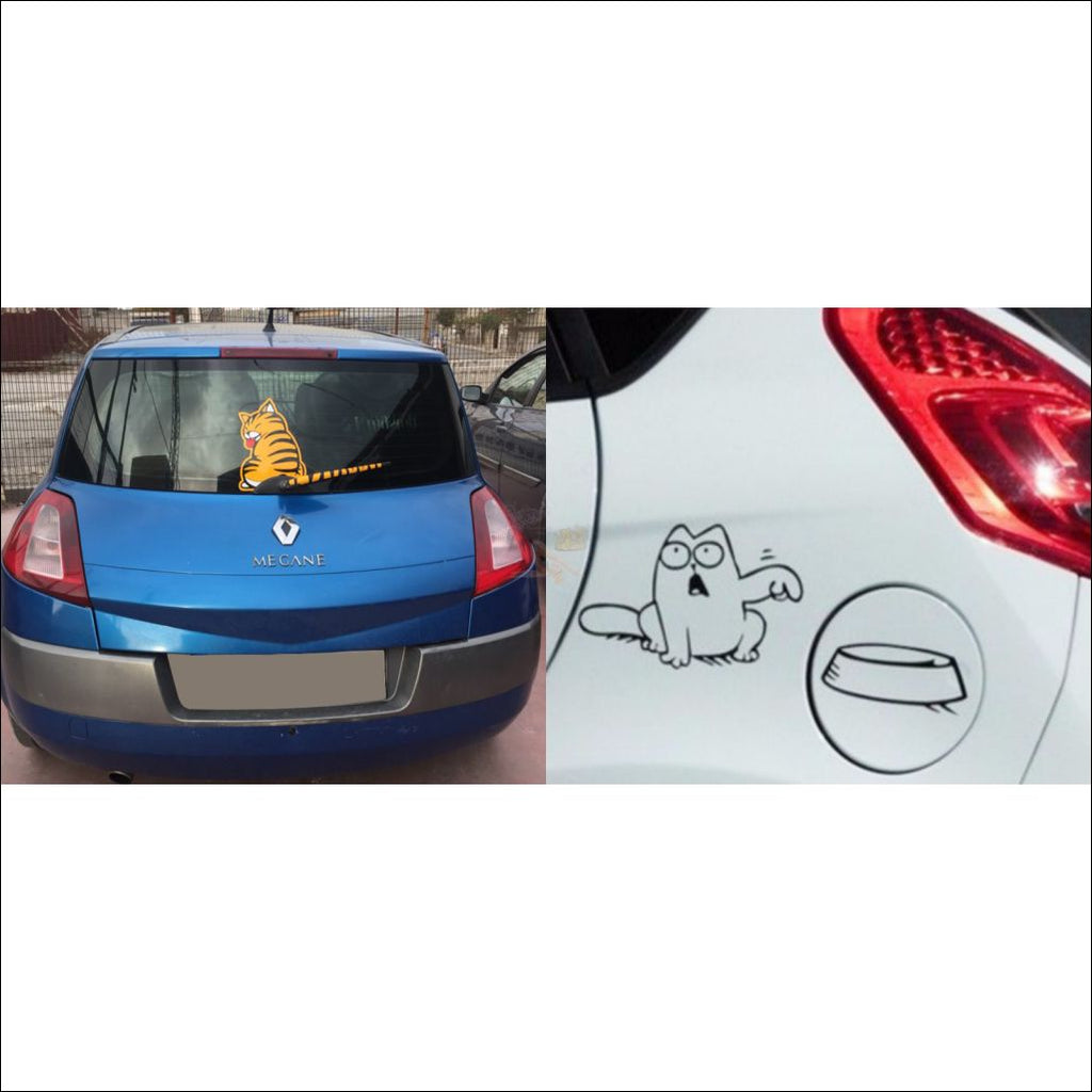 Funny Moving Tail Cat Car Sticker For Window & Windshield Wiper Funnystickerset-Y