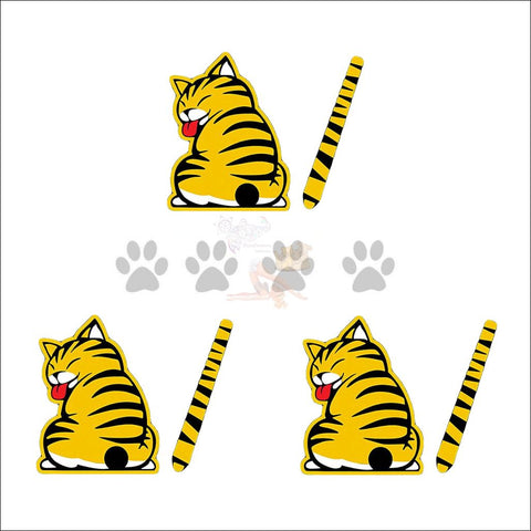 Moving Tail CAT CAR Sticker - Window Stickers buy 2 get 1 free by Blissfactory Pet Supplies