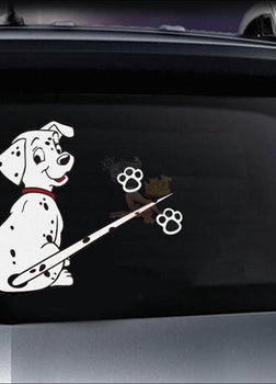 Funny Moving Tail Dog Car Sticker For Window & Windshield Wiper (Free + Shipping) Dalmatian