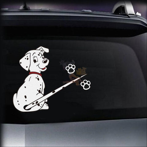 MOVING TAIL Dog CAR STICKER- Window Stickers Dalmatian by Blissfactory Pet Supplies