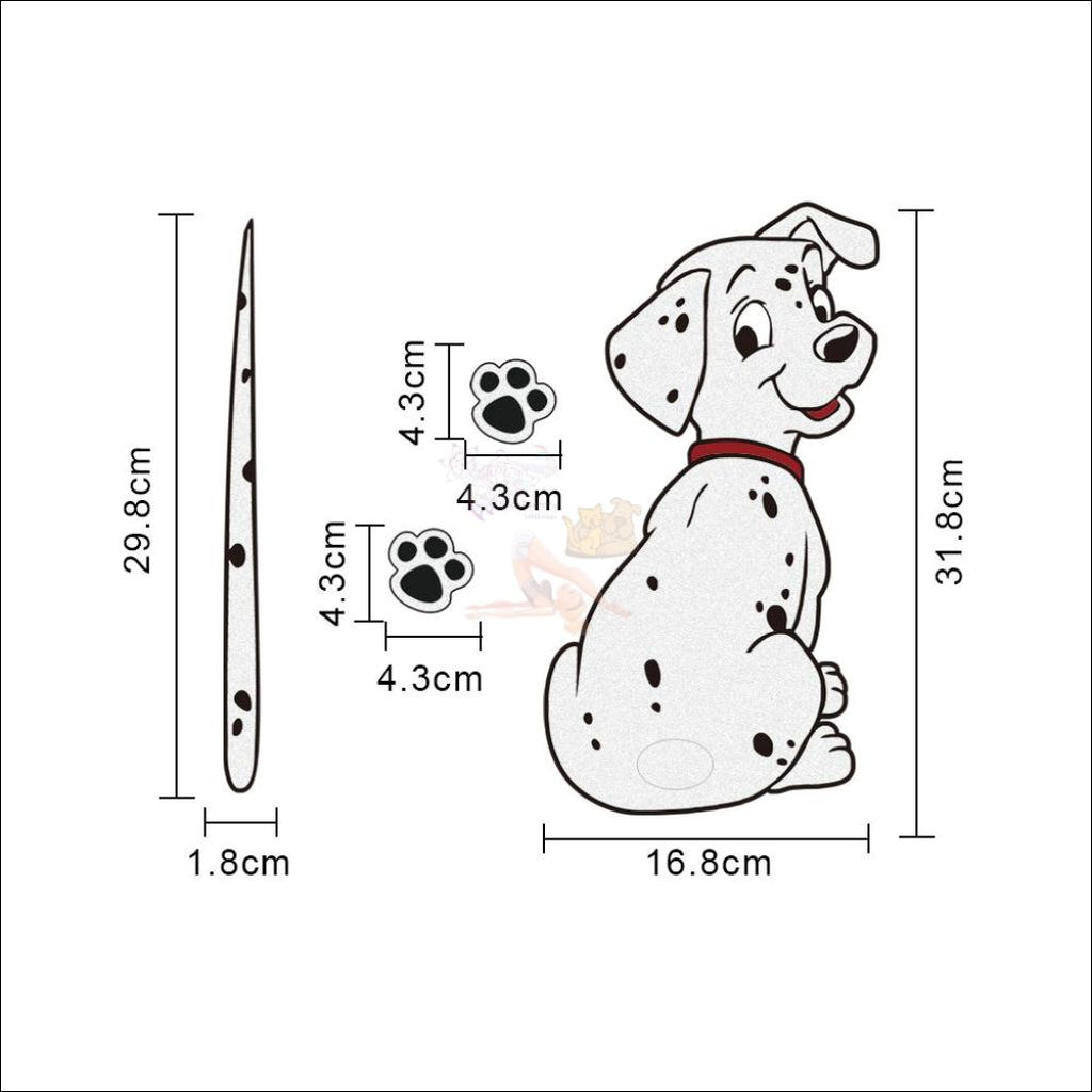 MOVING TAIL Dog CAR STICKER- Window Stickers measurement by Blissfactory Pet Supplies