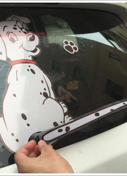 FUNNY MOVING TAIL Dog CAR STICKER FOR WINDOW & WINDSHIELD WIPER (FREE + Shipping)
