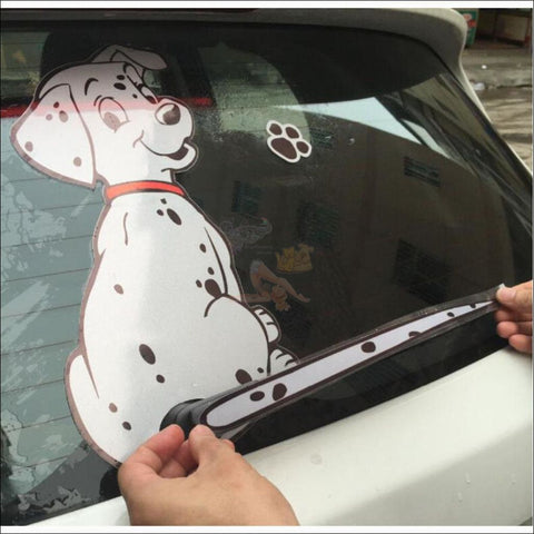 MOVING TAIL Dog CAR STICKER- Window Stickers by Blissfactory Pet Supplies