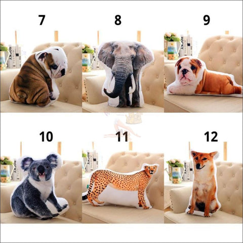 REALISTIC 3D Animal  COUCH CUSHION by Blissfactory Pet Supplies