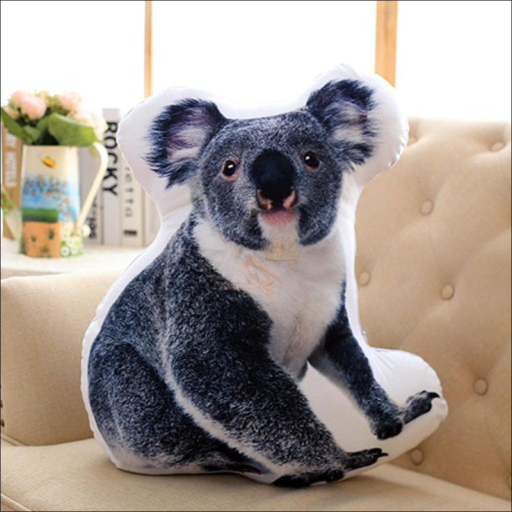 Funny & Realistic 3D Cat (Animal) Sofa Cushion Koala
