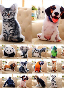 Funny & Realistic 3D Cat (Animal) Sofa Cushion