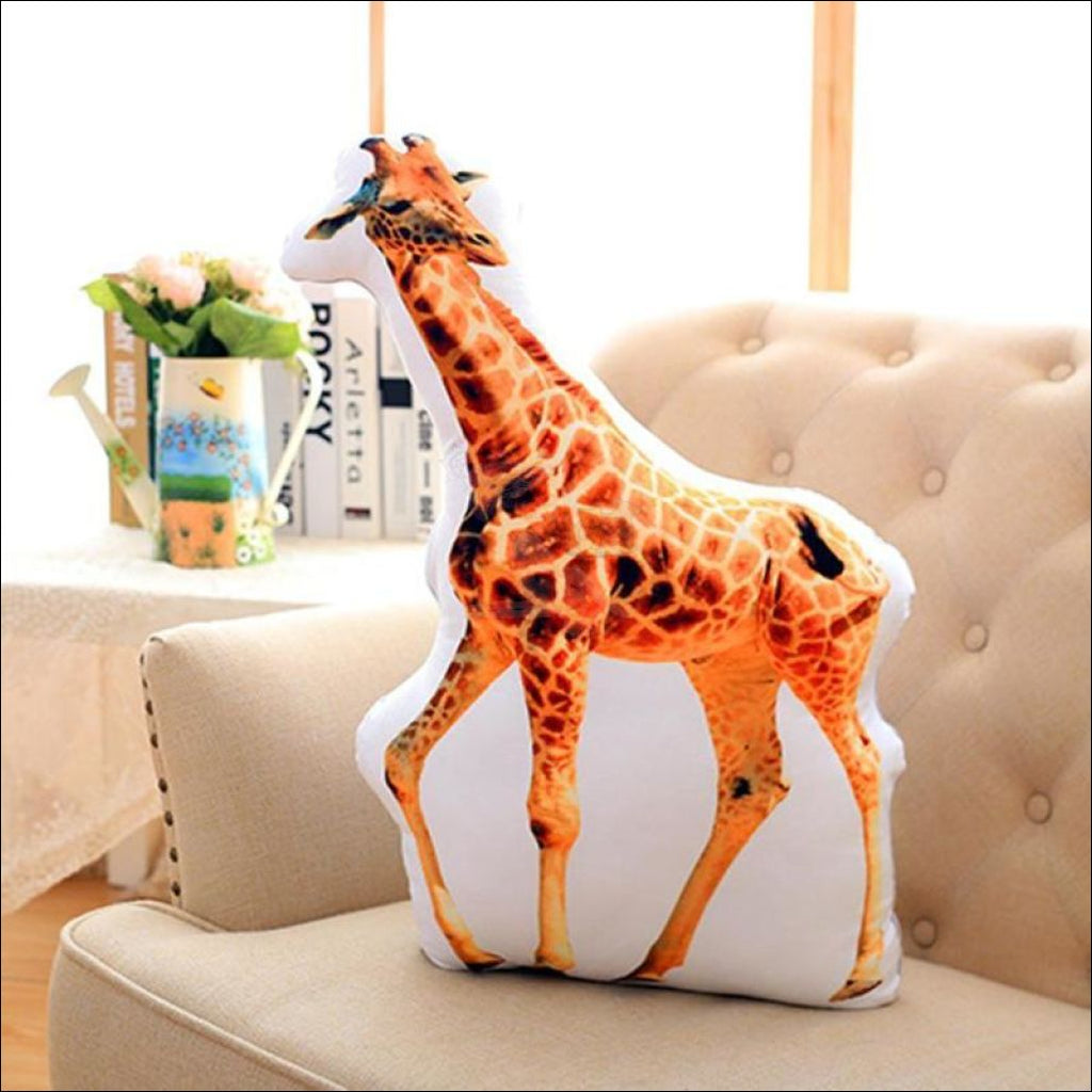 Funny & Realistic 3D Cat (Animal) Sofa Cushion Giraffe