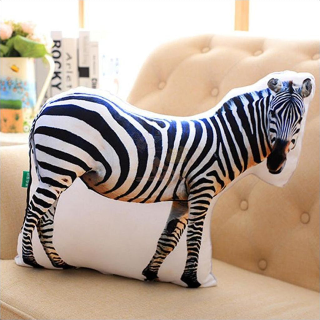 Funny & Realistic 3D Cat (Animal) Sofa Cushion Zebra
