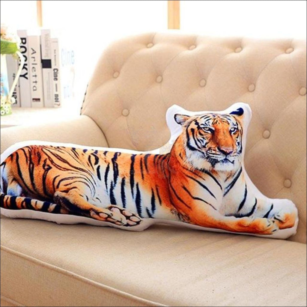 Funny & Realistic 3D Cat (Animal) Sofa Cushion Tiger