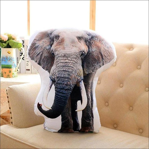 Funny & Realistic 3D Cat (Animal) Sofa Cushion Elephant