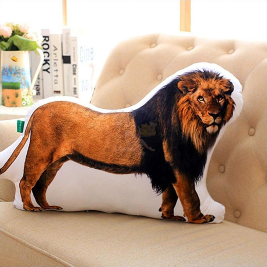 Funny & Realistic 3D Cat (Animal) Sofa Cushion Lion