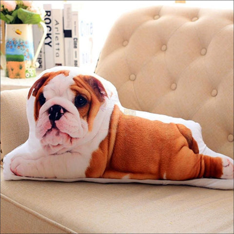 Funny & Realistic 3D Cat (Animal) Sofa Cushion Dog6