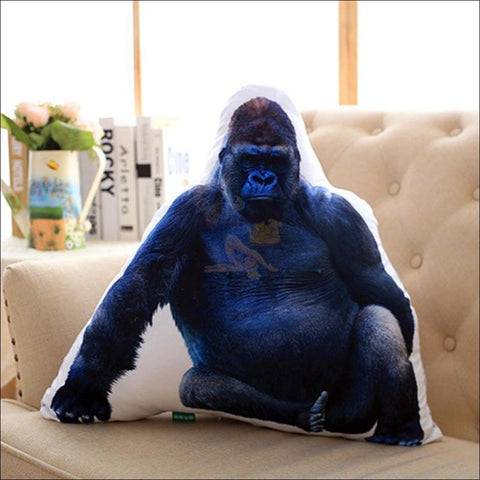 Funny & Realistic 3D Cat (Animal) Sofa Cushion Gorilla