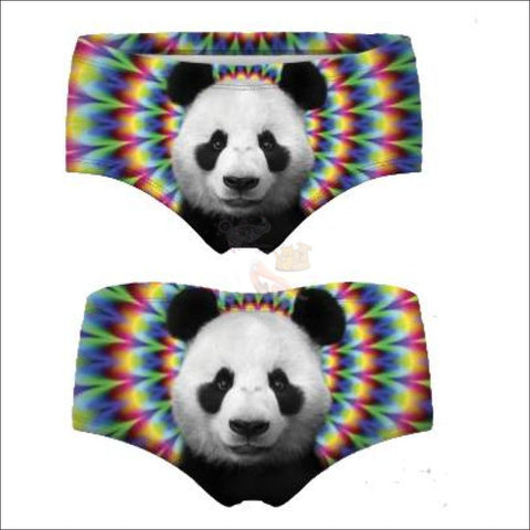 Sexy Animal Design Women's Underwear Panda by Blissfactory Pet Supplies