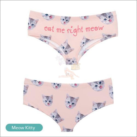 Sexy Animal Design  Funny Women's Underwear Cat 1 by Blissfactory Pet Supplies