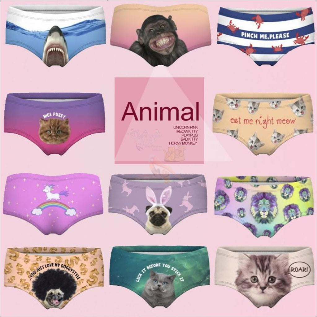 Funny & Sexy Animal Design Panties For Women (One Size Free Shipping)