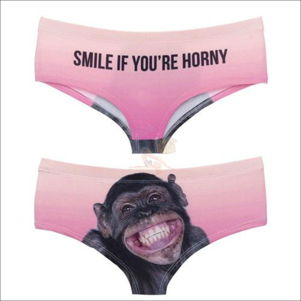 Funny & Sexy Animal Design Panties For Women (One Size Free Shipping) Chimpanzee / One