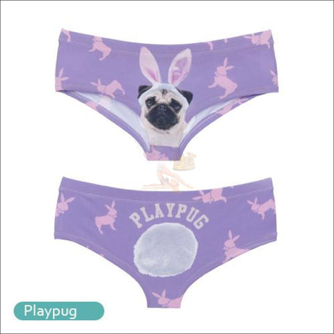 Funny & Sexy Animal Design Panties For Women (One Size Free Shipping) Playpug / One