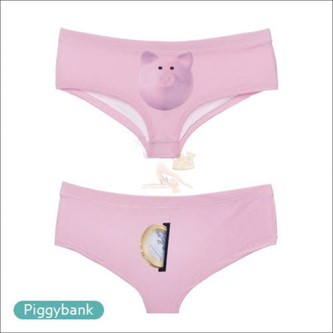 Sexy Animal Design  Funny Women's Underwear Pig by Blissfactory Pet Supplies