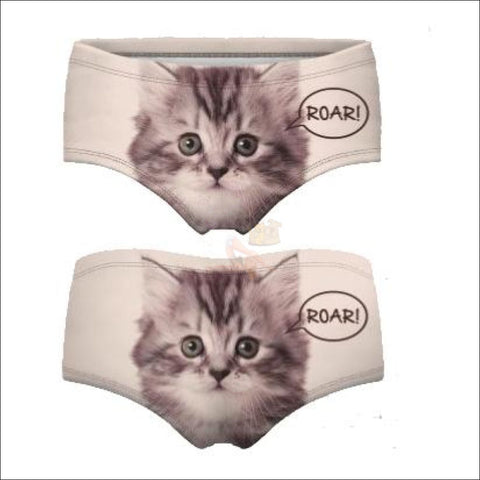 Sexy Animal Design  Funny Women's Underwear Cat 4 by Blissfactory Pet Supplies