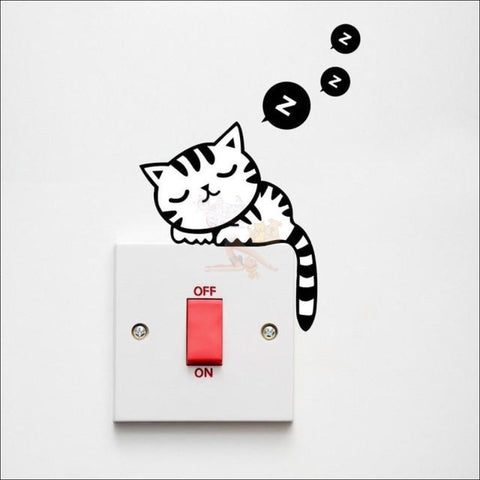Funny Vinyl Cat Stickers (For Toilet Or Any Other Surface) - Free Shipping! Cat5 Sticker