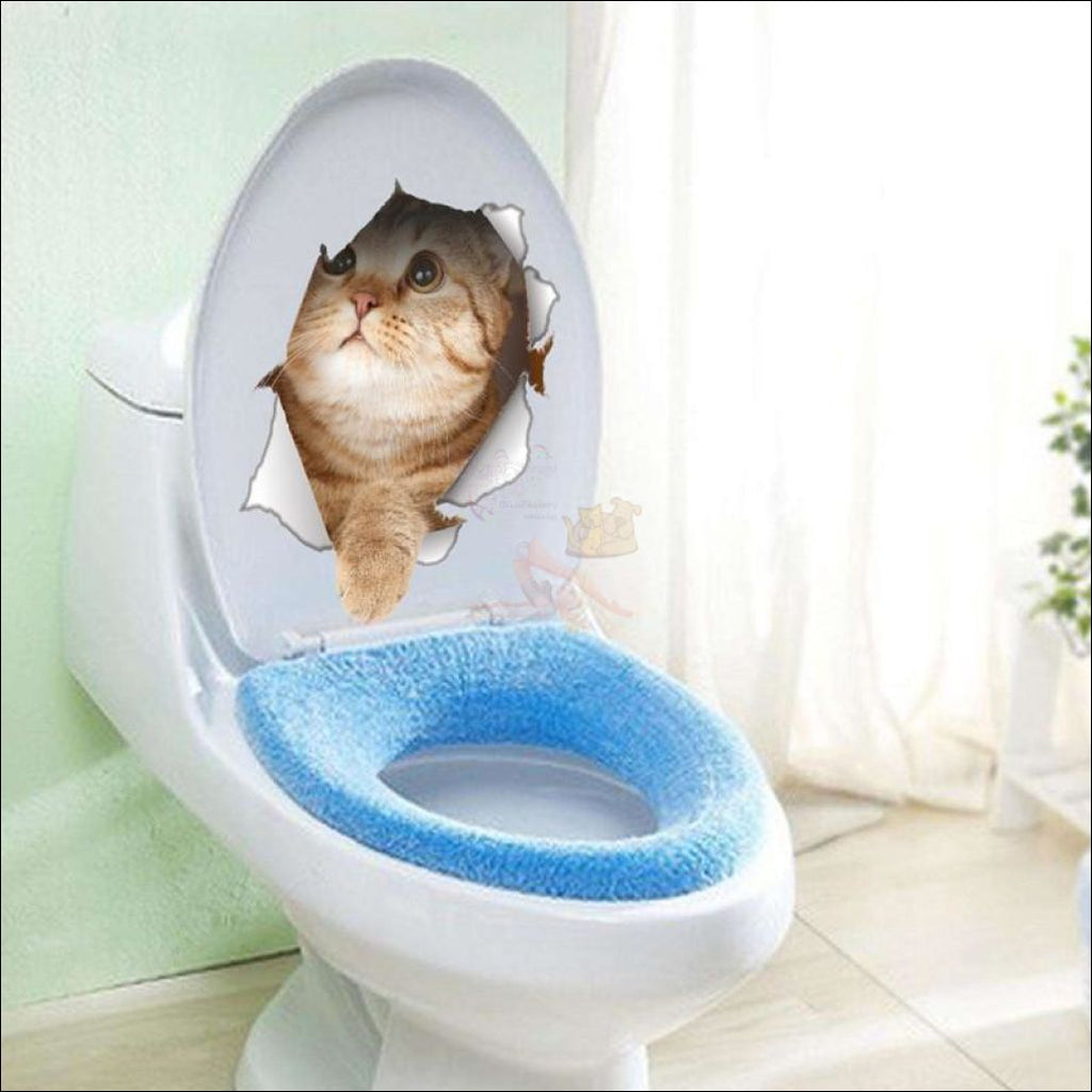 Funny Vinyl Cat Stickers (For Toilet Or Any Other Surface) - Free Shipping! Cat3 Sticker