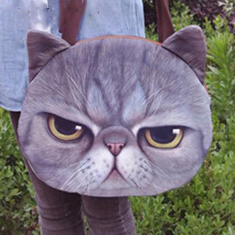 Large Funny Cute Cat Purse, Cat Bag kitty 4 by Blissfactory Pet Supplies