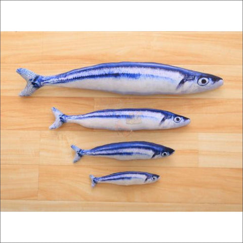 Happy Cat Fish Toy Or Sofa Pillow (3 Sizes) Pacific Saury / S