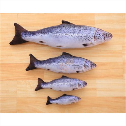 Happy Cat Fish Toy Or Sofa Pillow (3 Sizes) Salmon / S