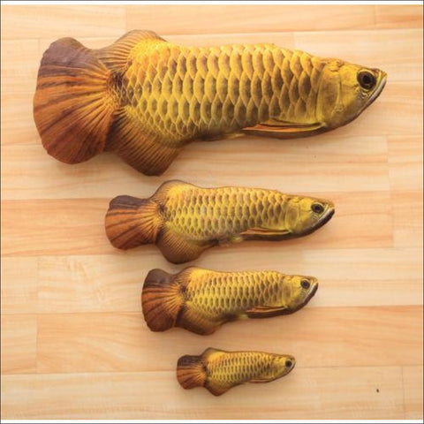 Image of Happy Fish Cat Toy- Best Cat Toys gold arowana  by Blissfactory Pet Supplies